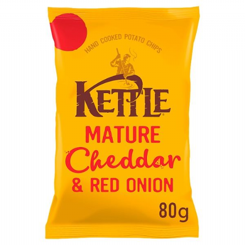 KETTLE® Mature Cheddar & Red Onion 80g (UK)